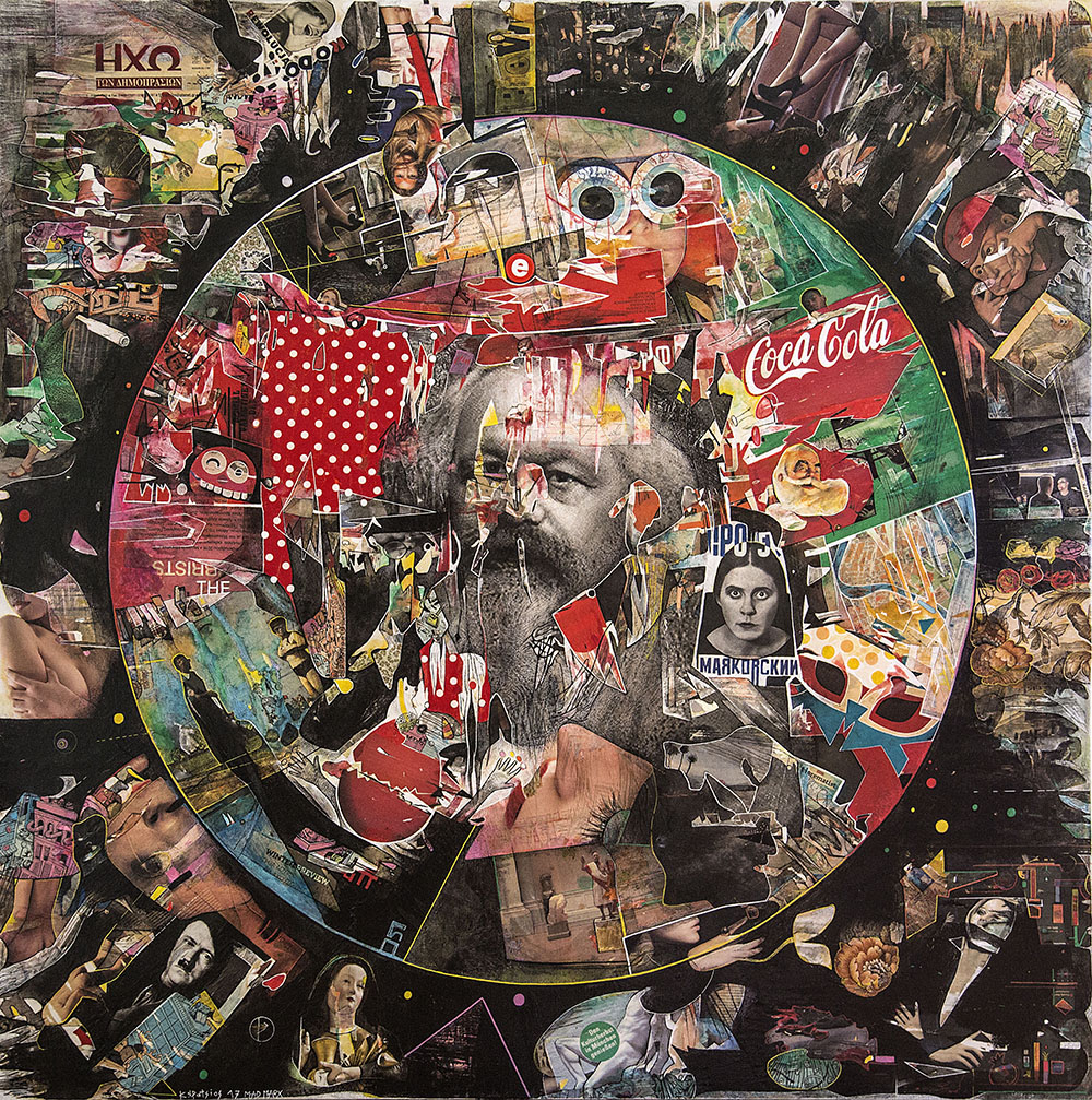 Never mind the Marx,150x150cm,mixed media on canvas,2017.jpg